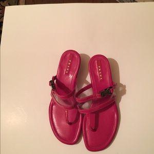 Prada patent leather sandals fuschia & clear 361/2